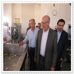 بازدید وزیر صنعت، معدن و تجارت از کارخانه لبنی کاله